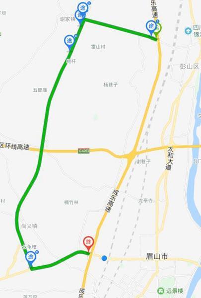 1月10日、14日成乐高速管制 交警发布绕行指南