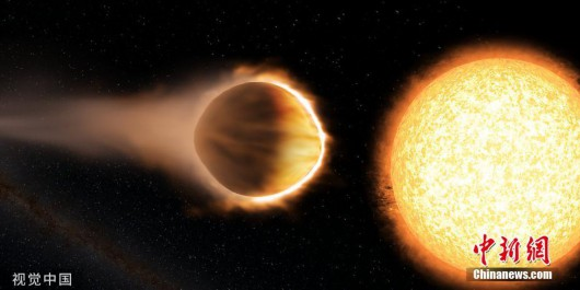 """哈勃发现一颗系外行星正在失去""""重金属""""大气"""