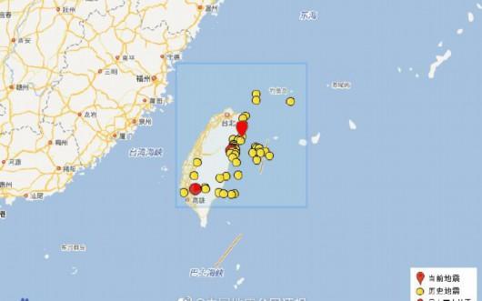 中国地震局:今年以来,台湾发生四级以上地震37次