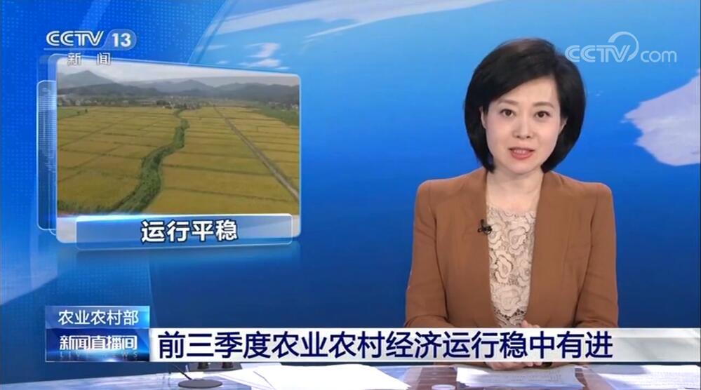 农业农村部:前三季度农业农村经济运行稳中有进