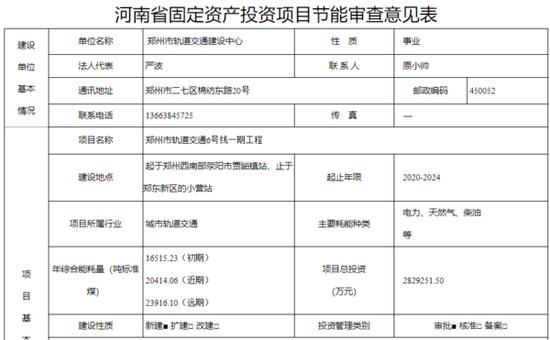 郑州地铁6号线、3号线二期消息:涉及站点、工期等